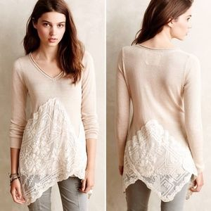 Angel of the North Alpinum sweater asymmetric lace